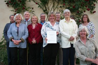 St Margaret's History Society volunteers with 'Best New UK Community Archive' award 2013