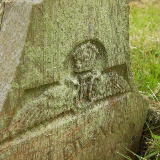Gravestone and original grave marker of HOBBS 2nd Lt. Geoffrey Brian 1915 | Dawn Sedgwick
