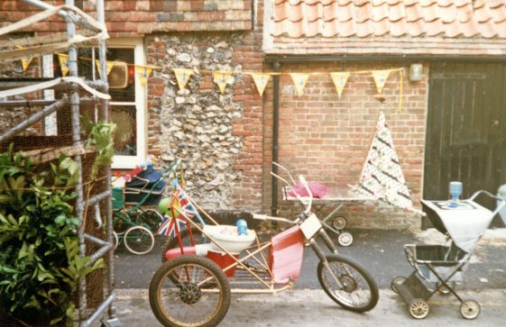 St Margaret's Pram Race from The Red Lion. 20th July 1986