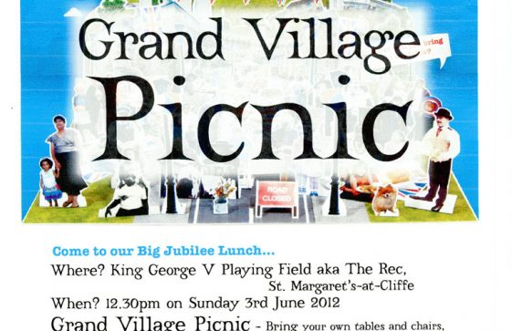 A poster advertising a Grand Village Picnic to be held in St Margaret's on 3rd June 2012