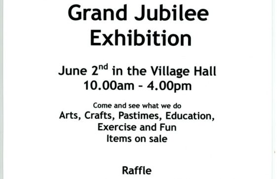 Poster about St Margaret's WI Grand Jubilee Exhibition on 2nd June 2012 in Village Hall
