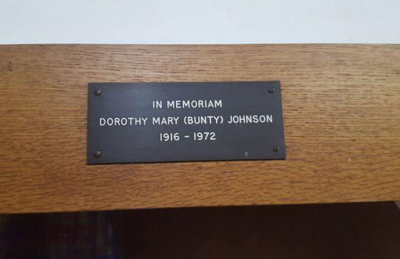 Memorial to JOHNSON Dorothy Mary 1972