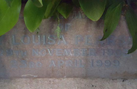Memorial to PEARSON Louisa 1999