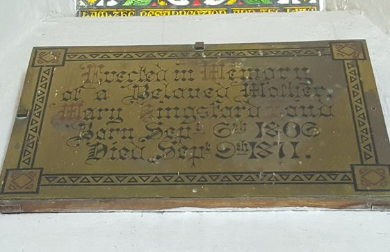 Memorial to LOUD Mary K 1871