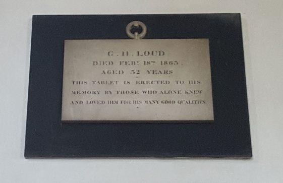 Memorial to LOUD G H 1863