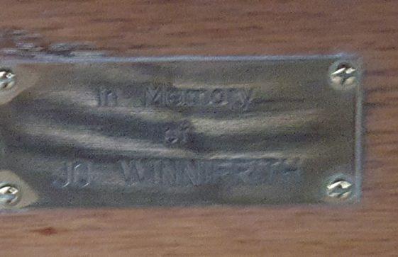 Memorial to WINNIFRITH Jo