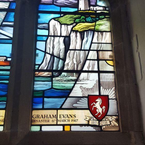 Memorial Window to CRONE Robert; EADES Bryan; EVANS Graham 1987 | Dawn Sedgwick