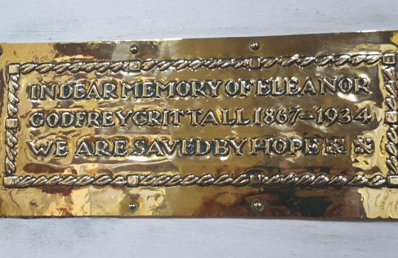 Memorial to CRITTALL Eleanor Godfrey 1934