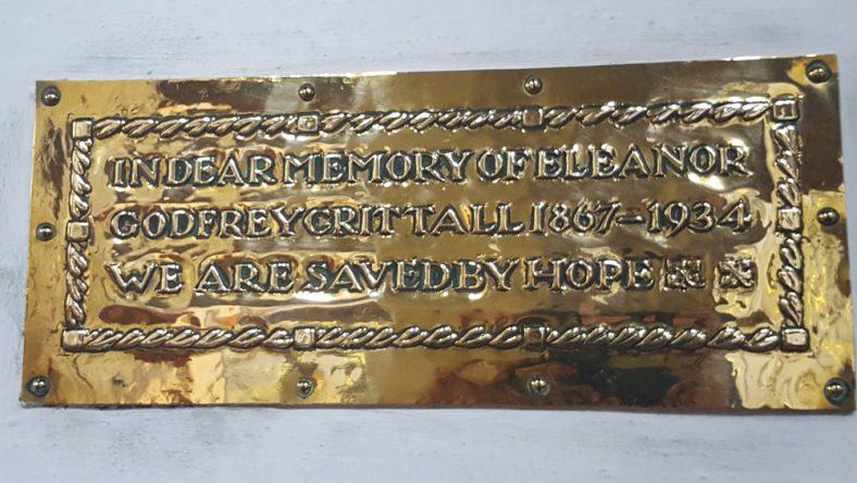 Memorial to CRITTALL, Eleanor Godfrey 1934 | Dawn Sedgwick