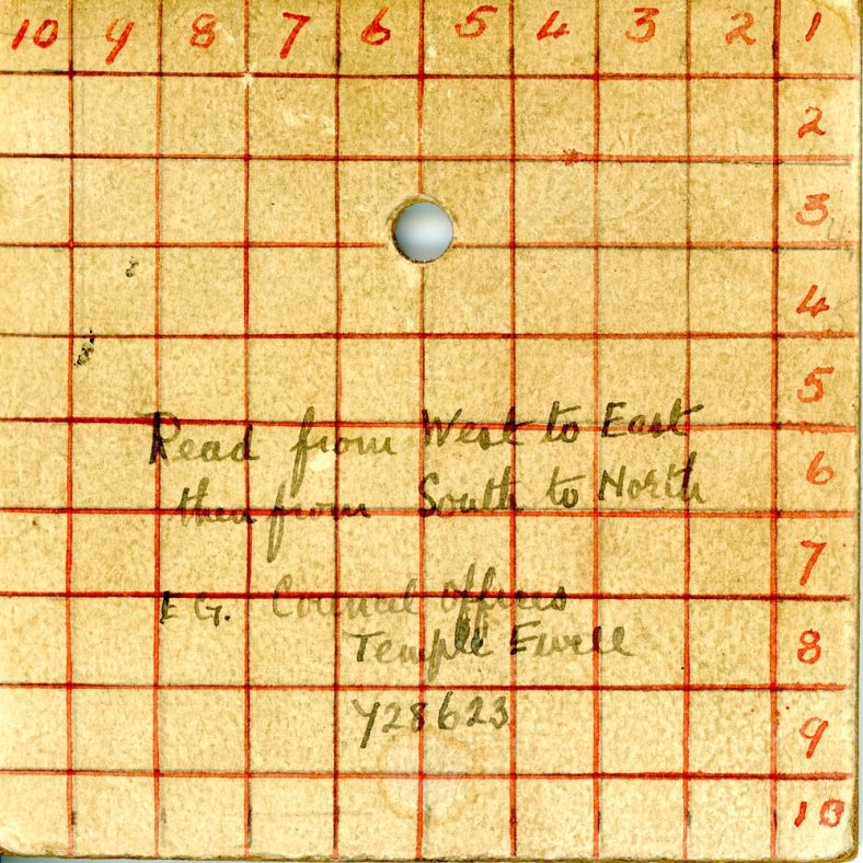 WW2 map plot card with instructions