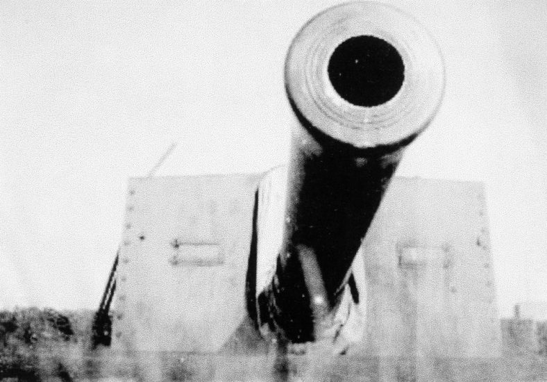 9.2 inch gun at Wanstone Farm