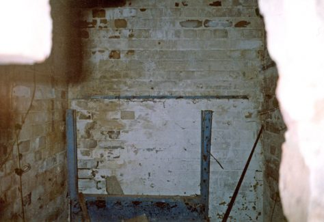 Interior of the WW2 Pill Box on the beach, St Margaret's Bay. 2007