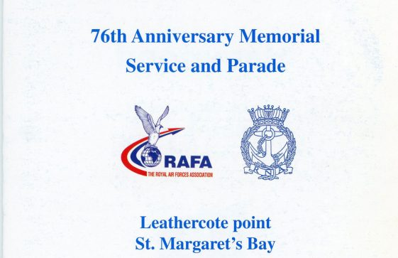 76th Dover Patrol Memorial Service and Parade Programme 15 June 1997
