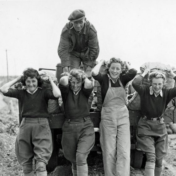 Land Army Girls working on local farms. (3)