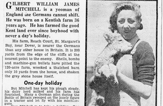 Reach Court Farm under enemy fire. 1942
