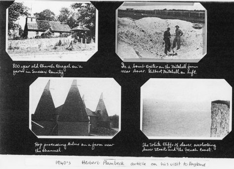 Photographs of war time Kent by US Farm News editor. 1943