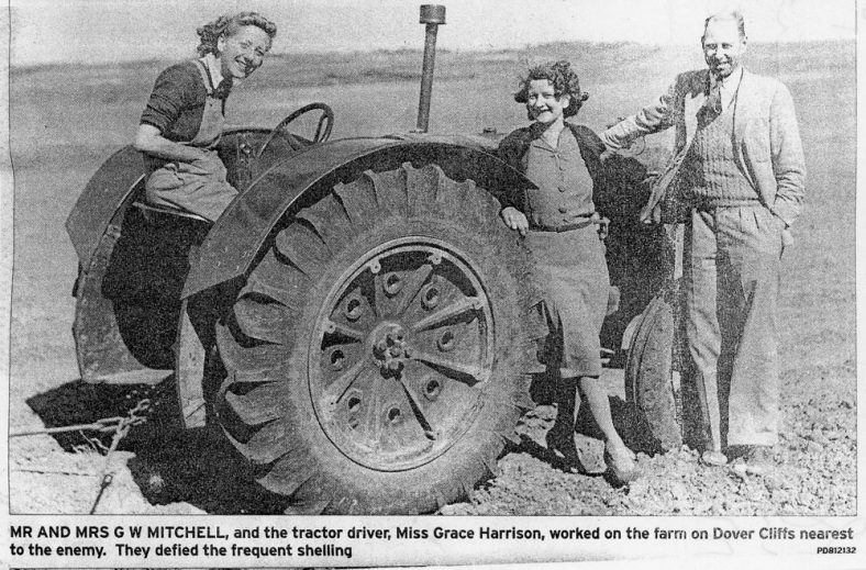 The Mitchells and Miss Harrison with Tractor