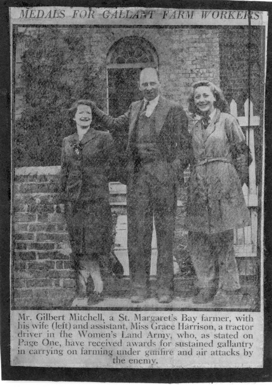 Ministry of Information photograph of the Mitchells and Miss Harrison