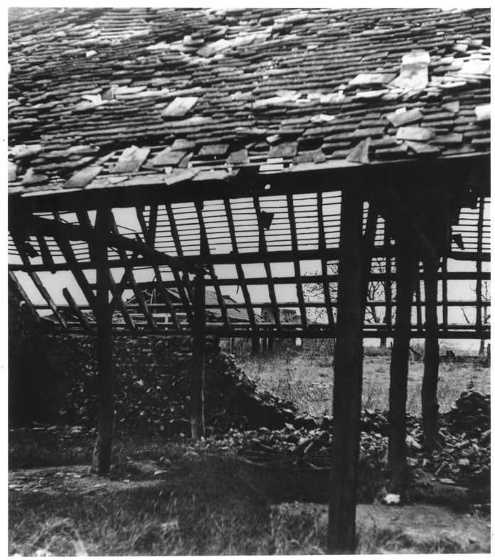 A Barn Badly Damaged by Enemy Action