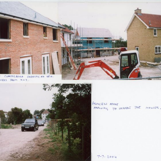 Visit by the Princess Royal to St Margaret's on 7th June 2004 to view the affordable housing under construction.
