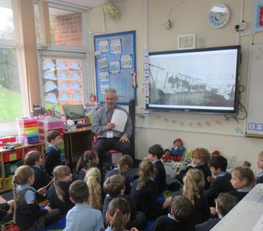 WW1 day at St Margaret's at Cliffe Primary School. Finding out about WW1 with Martin Crowther