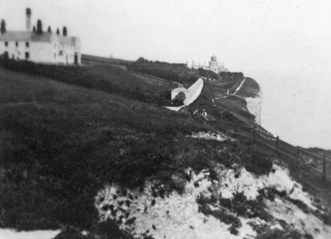 Lower South Foreland Lighthouse and Keepers' cottages. 1930s