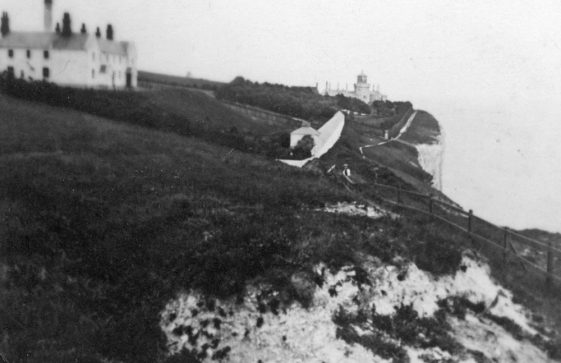 Lower South Foreland Lighthouse and the Keepers' cottages. 1930s