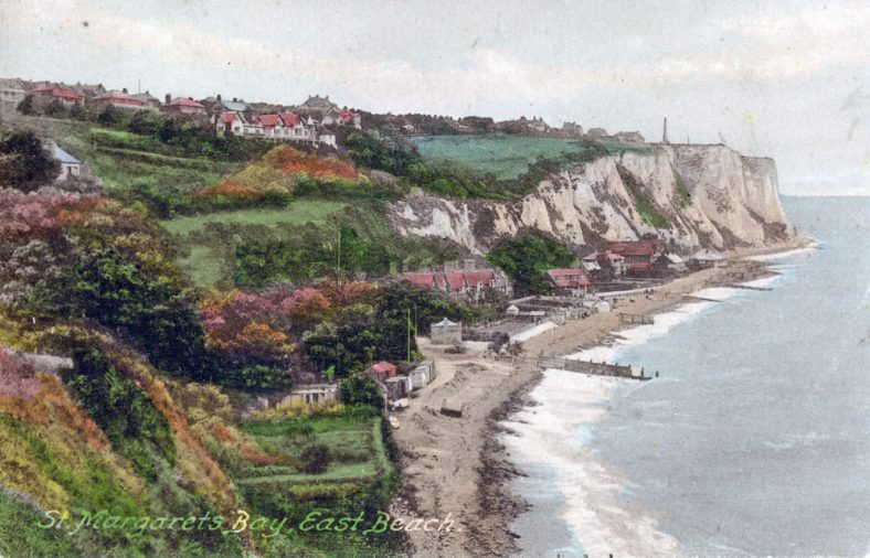 St Margaret's Bay from Ness Point. postmark 1924