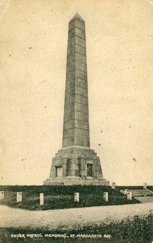 Dover Patrol Memorial. postmark 1924