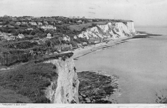 St Margaret's Bay from Ness Point. postmark 1945