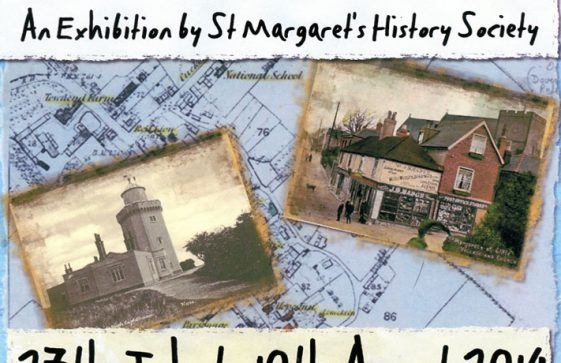 Poster advertising The Village and Lighthouse exhibition at South Foreland Lighthouse. 2014