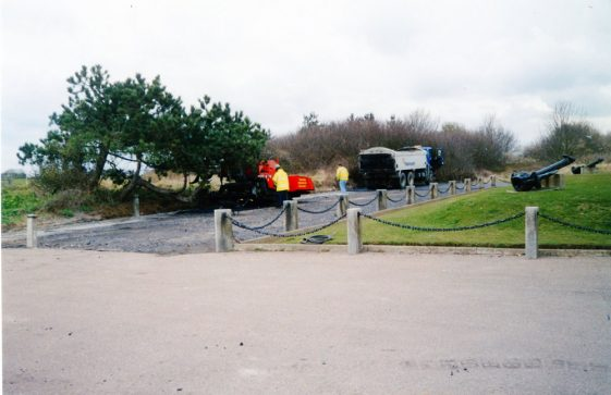 Dover Patrol Memorial resurfacing work 5 April 2004