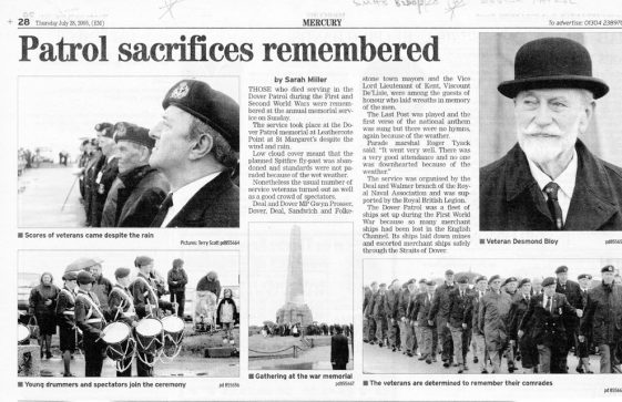 St Margaret's British Legion press cuttings and fliers commemorating VE and VJ Days 2005