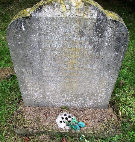 Gravestone of BAKER John 1917; BAKER Emily E 1968