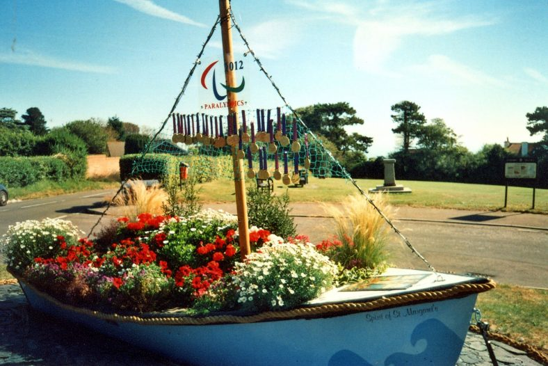 'The Spirit of St Margaret's'  an ornamental boat at the top of Bay Hill. 2012