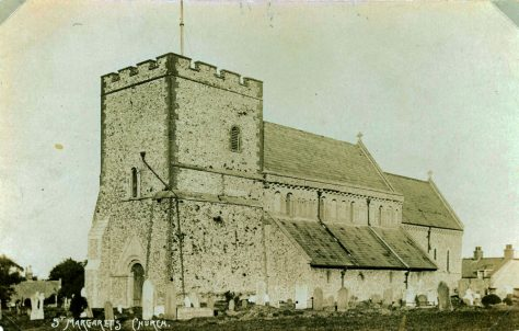 St Margaret's Church from the south west. Post-restoration. c.1869