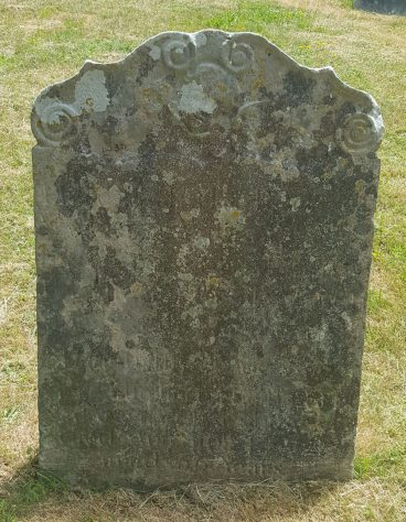 Gravestone of FINNIS Margaret 1755; FINNIS James 1772