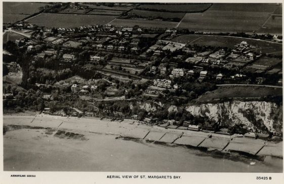 Aerial View of St Margaret's Bay inland to The Droveway. pre 1939