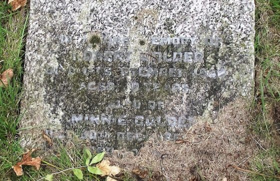 Gravestone of GOLDER Robert 1938; GOLDER Minnie 1943