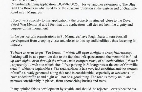 Objection to an Application to Bluebird Tea Rooms extension. 24 April 2009