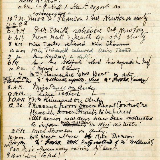 St Margaret's ARP (Air Raid Precautions) Log. Volume 1. 1 September 1939 - 24 July 1940. Pages 11-20