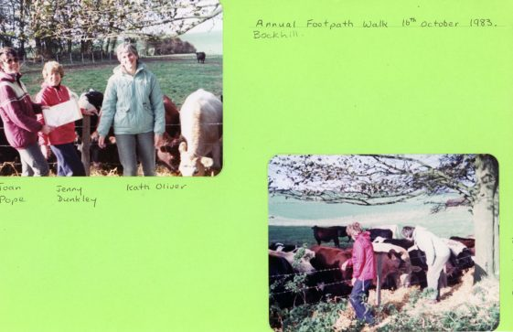 Annual footpath walk, at Bockhill. 16th October 1983