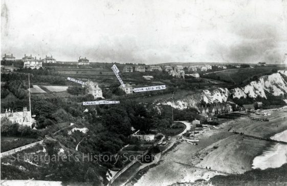 Aerial view of St Margaret' Bay. c1930