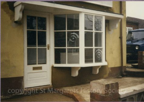 Front window of Watson's Baker's Shop, Kingsdown Road. February 1987