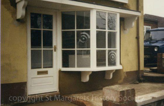 Front window of Watson's Baker's Shop, Kingsdown Road. February 1987