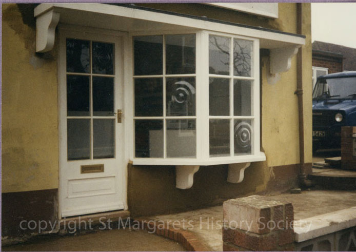 Front window of Baker's Shop, St Margaret's-at-Cliffe. February 1987