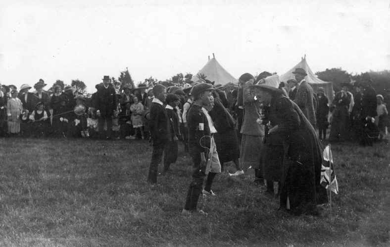Spectators and contestants at St Margaret's Sports Day. c1910