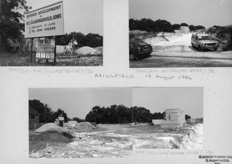 Millfield development, Station Road. 15th August 1984
