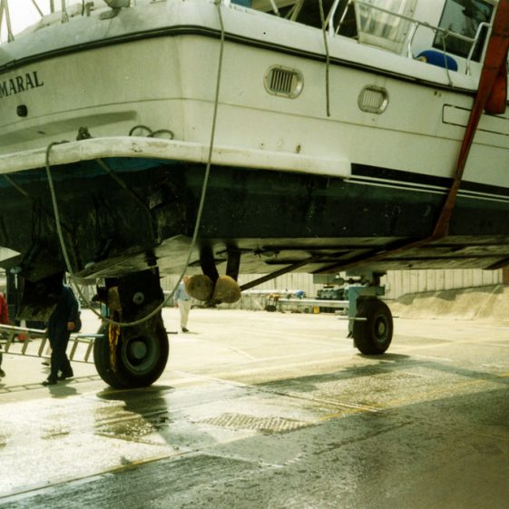 Grounding and rescue of the motor cruiser Maral off St Margaret's Bay. 30 April 2005