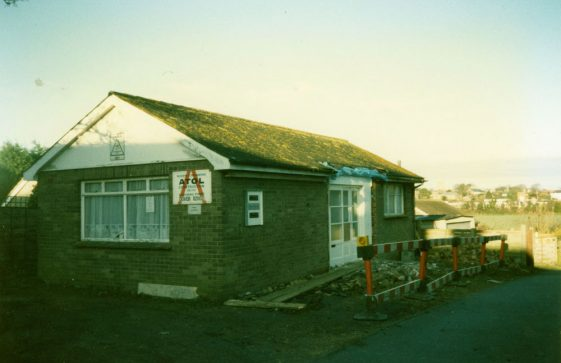 Construction work on the Doctor's Surgery Tara The Droveway.  March 1996